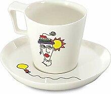 Berghoff 2X Frühstück Tasse Set, Glasporzellan,