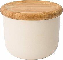 Berghoff Leo natur Bambus Faser Lebensmittel Vorratsdose mit Deckel, beige, Holz klein/12x 10cm