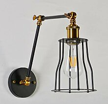 BERGHT Wandlampe Retro Verstellbar Metall