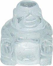 Bergkristall Buddha ca. 25 x 30 mm aus echtem