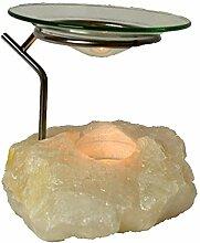Bergkristall-Teelichthalter- Edelstein Duftlampe