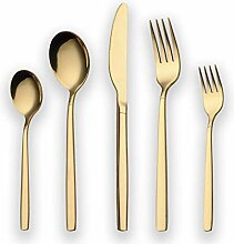 Berglander 30 Stück Titanium Gold Plated Besteck,