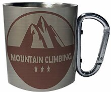Bergsteigen, Camping Edelstahl Karabiner