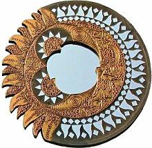 Berk Feng Shui Spiegel Sonne Mond, rund, ca. 40 cm