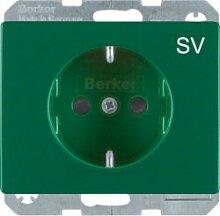 Berker 47150073 Steckdose grün
