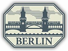 Berlin City Germany - Self-Adhesive Sticker Car