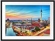 Berlin City Panorama Bilderrahmen mit