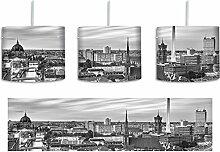 Berlin City Panorama Kunst B&W inkl. Lampenfassung