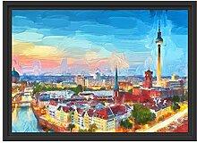 Berlin City Panorama Kunst im Schattenfugen