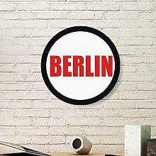 Berlin Deutschland Stadt Rot Runder Rahmen Kunst