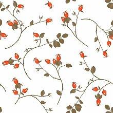 Berlintapete - Wallpaper On Demand - Designtapete - Floral - Kulturen - Hagebutten Vektor Ornament Nr. 13098