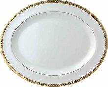 Bernardaud Athena Gold ovale Servierplatte, groß,