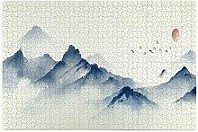 Bernice Winifred Blue Ink Landschaftsmalerei Berg