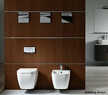 BERNSTEIN Komplettset Wand-Hänge-WC CH101 + Bidet BH101 inkl. Bidetarmatur