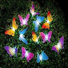 Berocia Schmetterling LED Lichterkette Solar