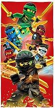 BERONAGE Lego Ninjago Badetuch Motiv Champion Fire