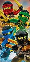 BERONAGE Lego Ninjago Badetuch Motiv Team 70 cm x