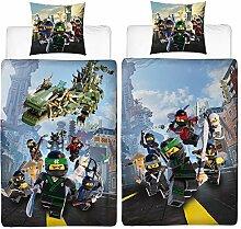 BERONAGE Lego Ninjago Kinder-Bettwäsche Street
