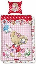 BERONAGE Lillebi Flowers Kinder-Bettwäsche 135 x