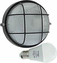 Berste-LED 10W - E27 - Aluminium -Alu wandstrahler