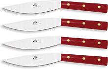 Berti - Set 4 stk Messer Valdichiana- Rot