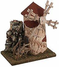 BERTONI Windmühle, Holz, Mehrfarbig,