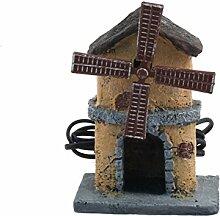 BERTONI Windmühle, Kunstharz, Mehrfarbig,