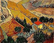 Berühmte Van Gogh Gemälde mit Blick auf das Haus