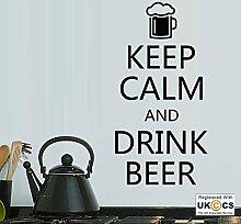 Beruhigen Bier Kitchen Bar Restaurant Funny Quote