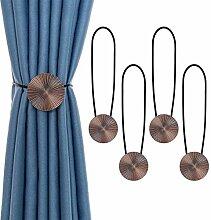 besbomig 4 Stück Magnetische Vorhang Raffhalter