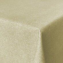 Beschichtete Baumwolle Tischdecke, schmutz- und wasserabweisend, abwaschbar, beige, 180 x 140cm (Größe und Farbe wählbar)