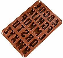 Beshh DIY 26 Englisch Buchstaben Silikonform
