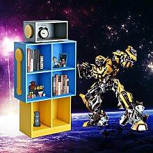 Besondere Roboter Design Regal Bücherregal Wandregal Aktenregal Büroregal Büro Wohnzimmer 7 Böden(Ein Kind als Geburtstagsgeschenk zu schicken ist eine gute Wahl)