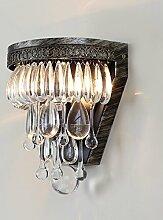 BESPD Kreative American Crystal Antike Lampen