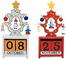 BESPORTBLE 2 Stück Weihnachtsbaum Adventskalender
