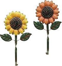 BESPORTBLE 2Pcs Vintage Metall Sonnenblumen Haken