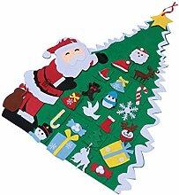 BESPORTBLE Filz Weihnachtsbaum mit Ornamenten