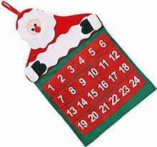 BESPORTBLE Santa Hängen Countdown-Kalender 2020