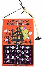 BESPORTBLE Wandbehang Countdown Kalender Halloween