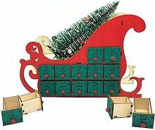 BESPORTBLE Weihnachten Adventskalender aus Holz 24