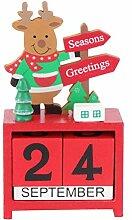 BESPORTBLE Weihnachts Countdown Kalender Holz