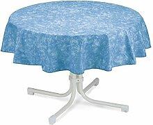 BEST 09820692 Tischdecke rund 160 cm, blau