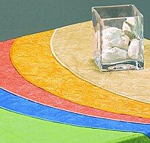 BEST 09830691 Tischdecke oval 210 x 160 cm, gelb