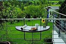 BEST 36501550 Balkon Hängetisch Butler halbrund 100 x 50 cm, anthrazi