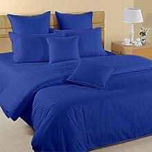 Best 4Stück Bogen Set Ultimate aus 350TC Ägyptischer blau Stripe UK Betten 100% ägyptische Baumwolle extra tief Tasche (26Zoll)–von TRP Blatt–B10