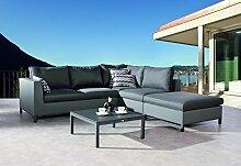 BEST 4-teilig Lounge-Gruppe Trinidad, anthrazit,