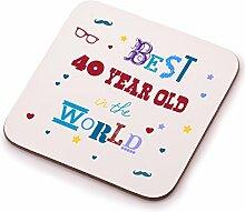 Best 40YEAR OLD Untersetzer–zum 40. Geburtstag Geschenk Geschenkidee. Perfektes Geschenk für Sie, Ihn, Sohn oder Tochter