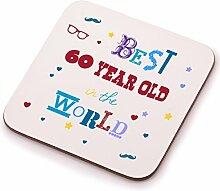 Best 60Year Old Untersetzer–60. Geburtstag Geschenk Geschenkidee. Perfektes Geschenk für Sie, Ihn, Mum oder Dad