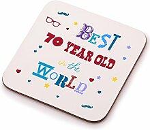 Best 70Year Old Untersetzer–70. Geburtstag Geschenk Geschenkidee. Perfektes Geschenk für Sie, Ihn, Mum oder Dad