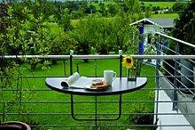 Best Balkonhängetisch Butler 100x50cm anthrazit